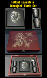 **AUCTION** Blackjack Flask Set by Sciggles