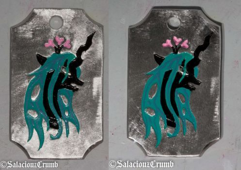 Chryssi - the Queen of Hearts - Dogtag by SalaciouzCrumb
