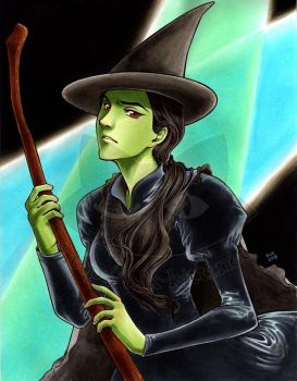 Commission - Elphaba by blk-kitti