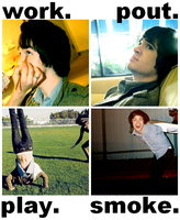 the stages of brendon urie. by four-panel-fanfics