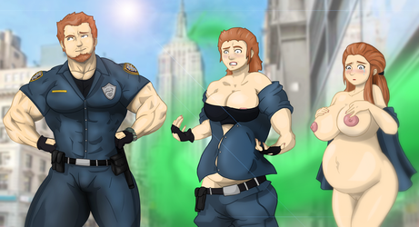 Poor Danni - The Police officer by spartasko