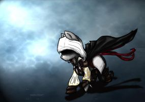 Ezio the earth pony by saxophone-and-stuff