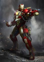 Steampunk Iron Man by conorburkeart