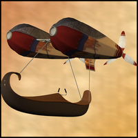 Anti Gravity Flying Machine 2 by Stock-by-Dana