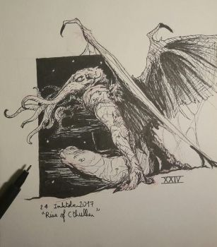 24 Rise of Cthulhu Inktober2017 by Popuche