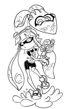 Splatoon girl inkling by El-Chacmool