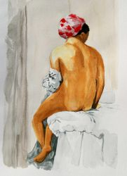 Watercolor exercice by Strooitje