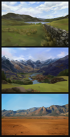 environments study by GrayCactus