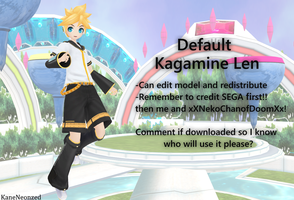 Project Diva F/2nd Default Len DL by Terrathde