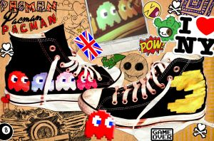 Shoes: Pacman Display by GAME-OVER-CUSTOM