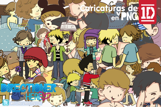 One Direction Caricaturas PACK PNG by DirectionerHere