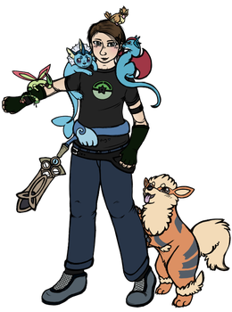 Pokemon Trainer Clover is ready to battle. by Captain-Clover