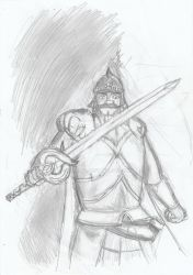 Ironhand and his magic sword by Thadal