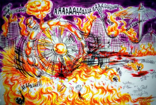 Drawlloween DAY #16 - Carnival Carnage by Tatmione