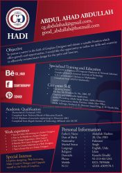 Resume of Abdul Ahad 02-02 by AhadiX