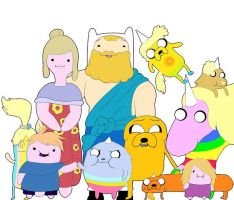 Adventure Time Family by aLameUserName