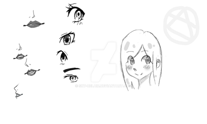 Eyes/ lips practice and a moe-ish face by Sky-Belair