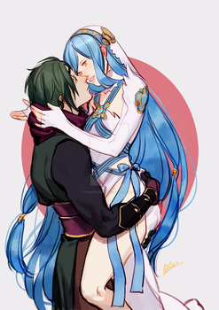 Kaze and Azura by EvaBeeSmith