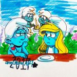Smurfs: date by TairusuKU