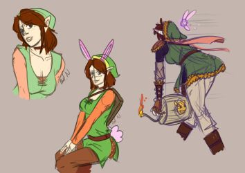 Female Link Sketches by Brellom