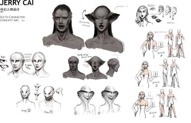 Sci-fi concept art - Characters by JerryCai