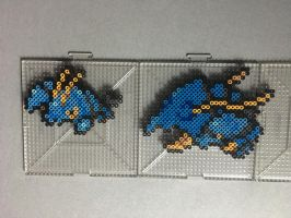#692-#693 Clauncher and Clawitzer Perlers