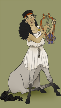 Euphrosyne and the Trash Lute by Taxidermatitis