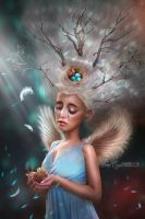 Leja the birds angel by BrietOlga