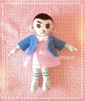 Eleven in Dress Stranger Things Custom Plush by poodledoodleplush