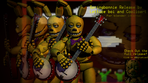 [ST COLLAB PACK] Springbonnie Halloween Release by CoolioArt