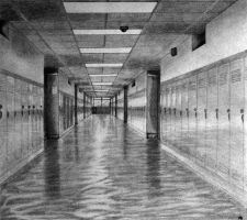 Hallway: Linear Perspective by MonicaHolsinger