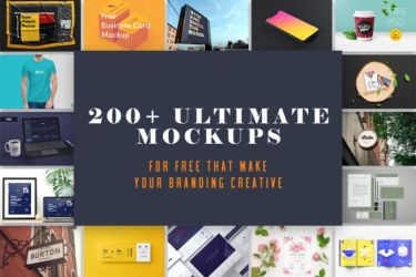 200+ Ultimate Mockups For Free That Make Your Work by symufa