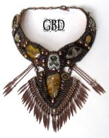 Bronze necklace by gbdreams