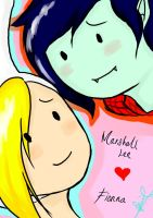 Marshall Lee and Fionna by kuraikitsune13