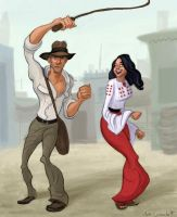 Indiana Jones and Marion by Neanderthal-Jam