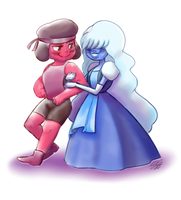 Ruby and Sapphire by samanthacannon