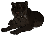 Melanistic Pygmy Cave Lion by TokoTime