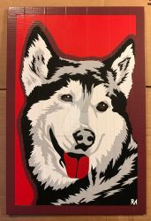 Husky Duct Tape Art by DuctTapeDesigns