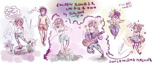 Chibis golden bomber by kathy-black