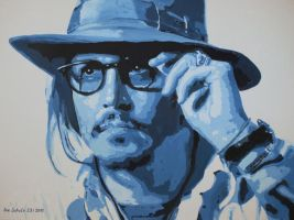 Johnny Depp - Shades Of Blue by shaman-art