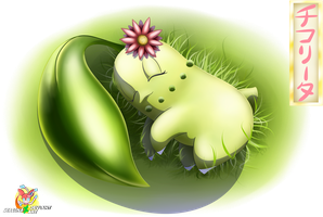 Chikorita's Spring Time Nap by Stacona