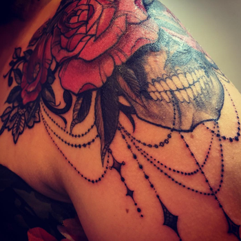 Skull and Roses by BPS-TATTOO