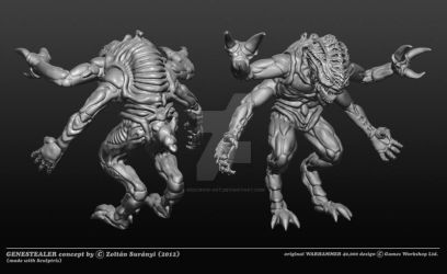 Genestealer concept by RedCrow-ART