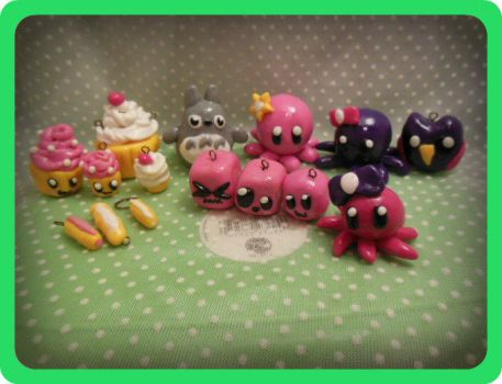 Polymer Clay Charms Collection by Ashler-Sauce