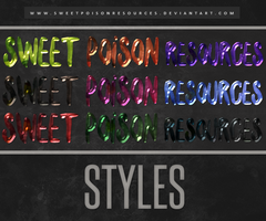 Styles | Photoshop by sweetpoisonresources