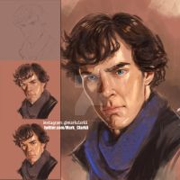 Sherlock - Benedict Cumberbatch by Mark-Clark-II