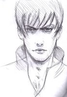 Face sketch cool pose by Vimes-DA