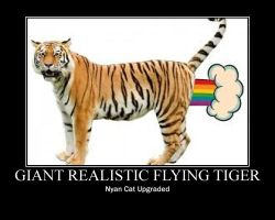 Giant Realistic Flying Tiger Poster by Winged--Maned--Wolf