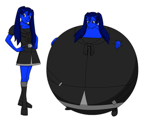 Request for berry-duke96 - Me as a blueberry 1 by Magic-Kristina-KW