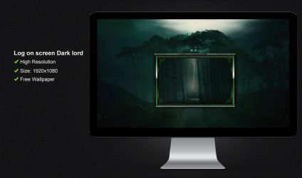 Log on screen Dark lord by poweredbyostx